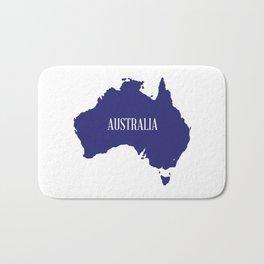 Australia Map Silhouette Bath Mat