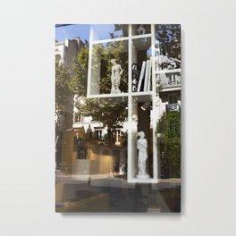 Paris, Sculptures, & Window Reflections Metal Print