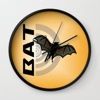bat Wall Clocks featuring BAT by BATKEI