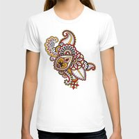 large T-shirts featuring Large Mehndi by RevvyIllustrations