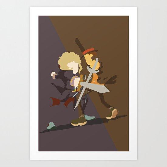 Professor Layton - Anton VS Layton Art Print