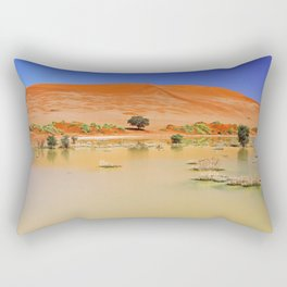 Water in the Namib desert after rain season, Namibia Rectangular Pillow