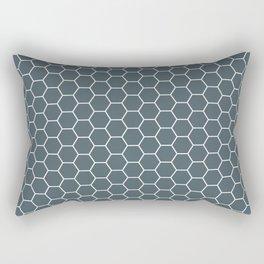 Bluish Grey Hex Rectangular Pillow