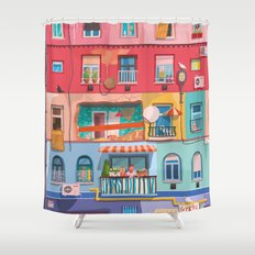 BP frontage Shower Curtain