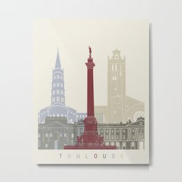 Toulouse skyline poster Metal Print