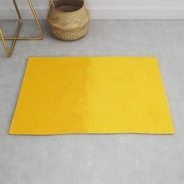 Watercolor yellow abstract Rug