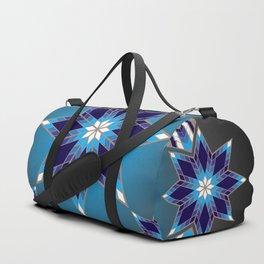 Morning Star Circle (Blue) Duffle Bag