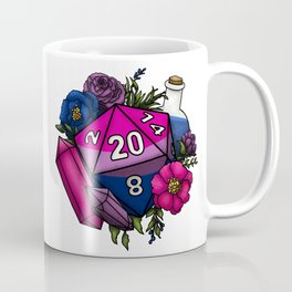 Pride Bisexual D20 Tabletop RPG Gaming Dice Coffee Mug