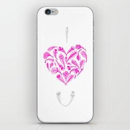 Feather Valentine iPhone Skin