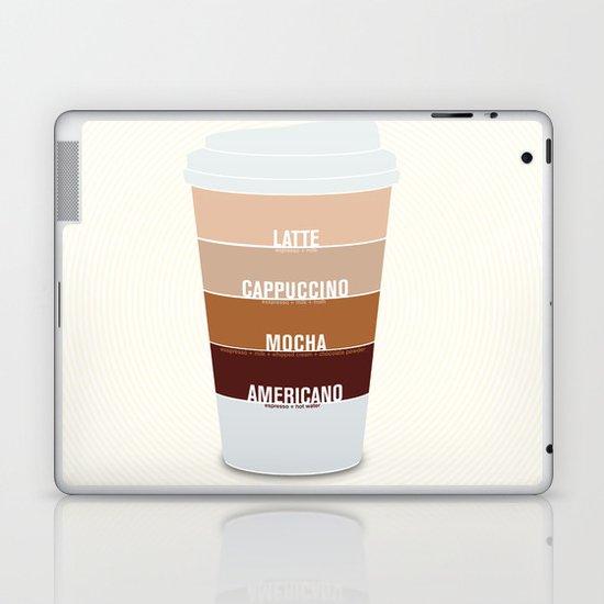 four shades of coffee + ingredients Laptop & iPad Skin