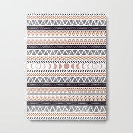 Boho Tribal Pattern Metal Print