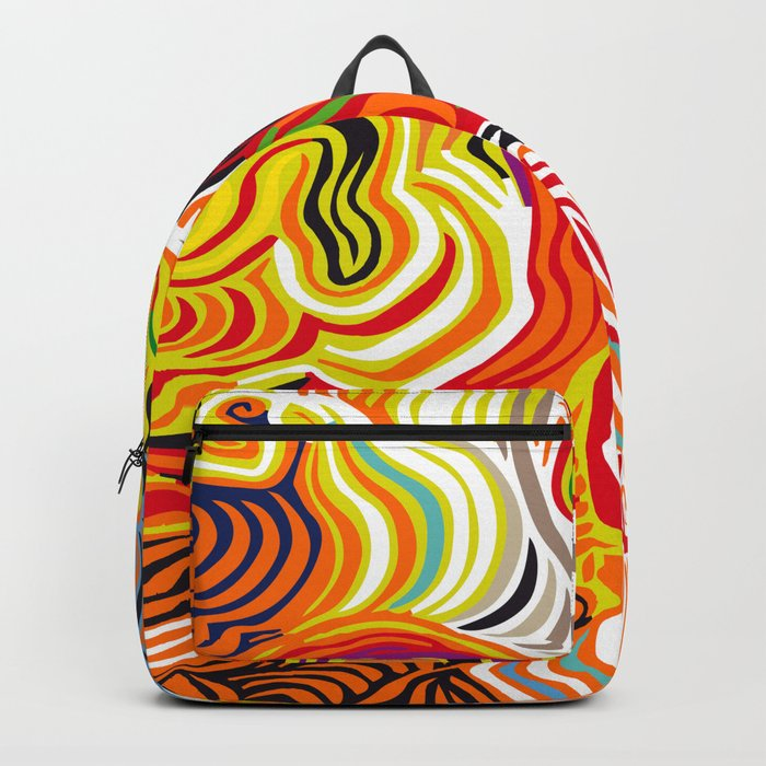 colored flow Backpack