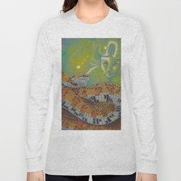 Serpent Goddess, Fantasy Snake Art Long Sleeve T-shirt