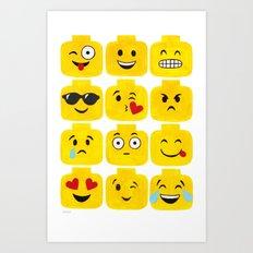 Emoji-Minifigure Art Print