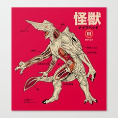 Kaiju Anatomy Canvas Print