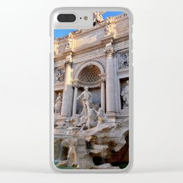 Trevi Fountain in Rome Clear iPhone Case