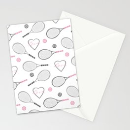Tennis Love Pattern Stationery Cards