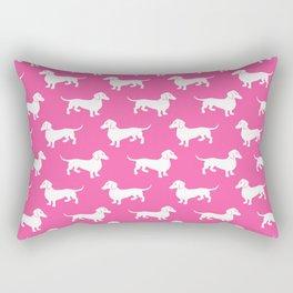 Pink Dachshunds Rectangular Pillow