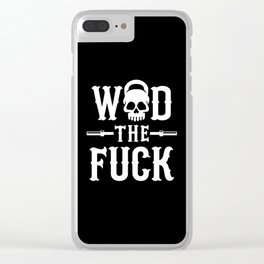 WOD The Fuck? Clear iPhone Case