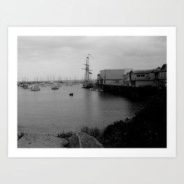 Monterey Warf Art Print