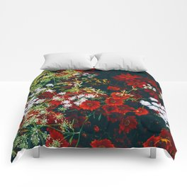 The Flower Bed (Color) Comforters