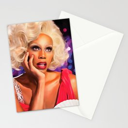 Rupaul Dragrace in Red Stationery Cards