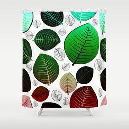 Bold Leaf Design Shower Curtain