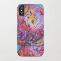 grafitti iPhone & iPod Cases featuring Grafitti Face by Whitney Woodrick