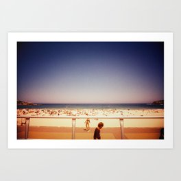 a bondi summer day Art Print