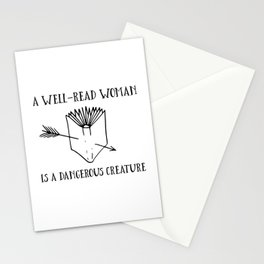 A Well-Read Woman is a Dangerous Creature Stationery Cards