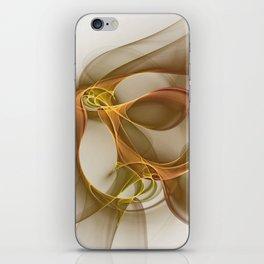 Precious Metal Colors, Abstract Fractal Art iPhone Skin