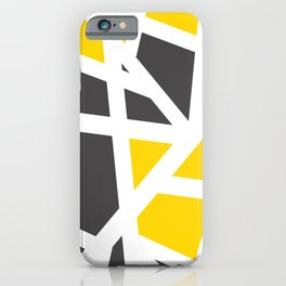 Abstract Interstate  Roadways Gray & Yellow Color iPhone Case