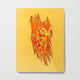 TMNT Rock: Mikey Metal Print