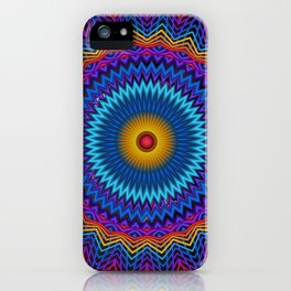 Guilloché Spirograph Tribal Motif  iPhone Case