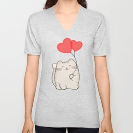 Eli, the love cat Unisex V-Neck