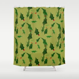 Have a Holly Jolly Shower Curtain