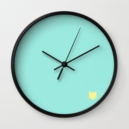 Charlotte Turquoise -- Cat Colors Wall Clock