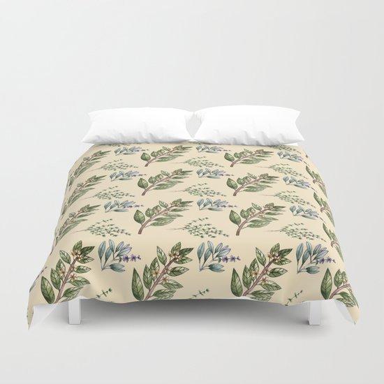 Herb Pattern Duvet Cover