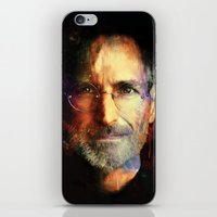 steve jobs iPhone & iPod Skins featuring Steve Jobs by turksworks