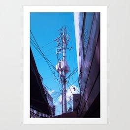 Seoul Telephone Poll Art Print