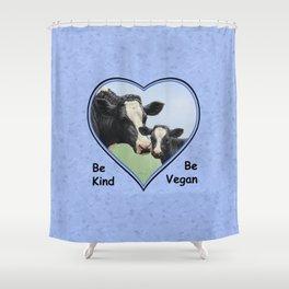 Holstein Cow and Calf Vegan Shower Curtain