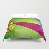 lovers Duvet Covers featuring Lovers by KadetKat