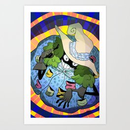 Positive Witch  Art Print