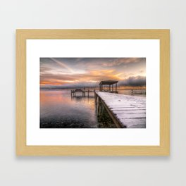 winter dock Framed Art Print