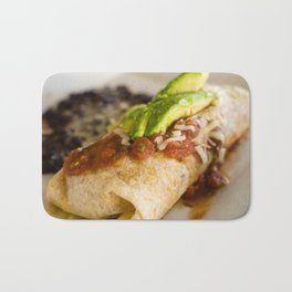 Close-up of a breakfast burrito Bath Mat