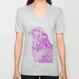 she's a beauty drawing, purple Unisex V-Neck