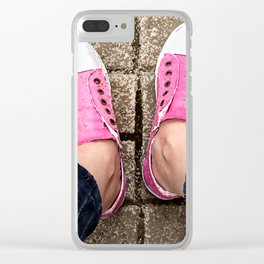 Pink sneakers. Clear iPhone Case