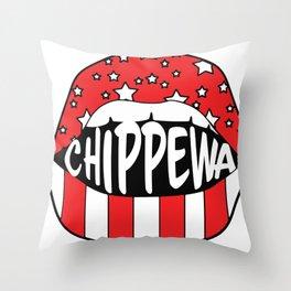 Chippewa ranch camp Throw Pillow