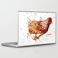 chicken Laptop & iPad Skins featuring Chicken by libby's art studio