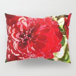 Red Chrysanthemums Pillow Sham